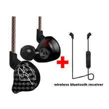 Original KZ Limited Version Sport Wireless Bluetooth Earphones Phone HiFi 3.5mm Wired Earphone with Mic Dynamic Armature Hybrid new arrived kz zst color balance armature dynamic hybrid dual driver earphone hifi earbud bass headset in ear earphones with mic