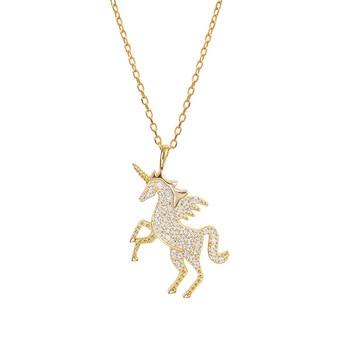 Silver Unicorn Pendant Necklaces