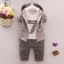 ФОТО bmlsgkw boy clothes outfit toddler infant solid color coat + digital pattern long sleeves + casual pants set children suit 1-4y