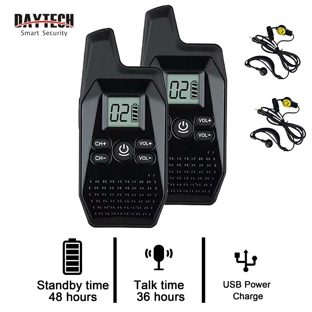 DAYTECH Mini Walkie Talkie Children Radio 1.5km Portable Two Way Audio Radio For Kids Lightweight Easy To Operate