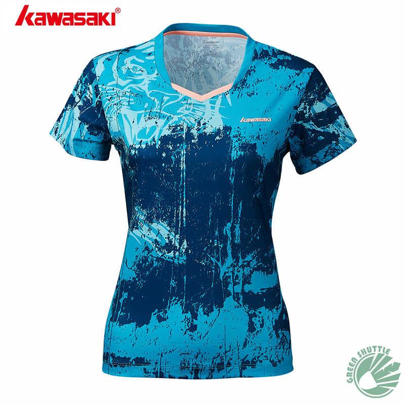2019 Kawasaki Новый Для мужчин и женская рубашка легкий дышащий материал кофта для бадминтона спортивная одежда с Рубашка с короткими рукавами ST-S1112