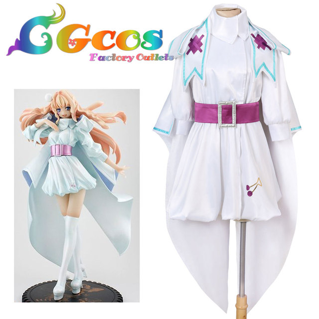 CGCOS Free Shipping Cosplay Costume Cos Macross Delta Sheryl Nome Dress  Uniform New in Stock Halloween