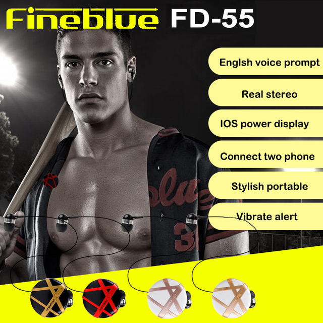 FINEBLUE Wireless Bluetooth Earphone scalable Headphones Bluetooth Headset Hands-free Earbud with mic Business for Phone