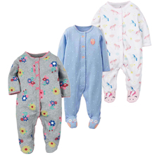 Купить с кэшбэком  Brand 2017 fashion baby pajamas & sleepwear baby clothing baby boys clothes for girls rompers 100% cotton baby rompers newborn