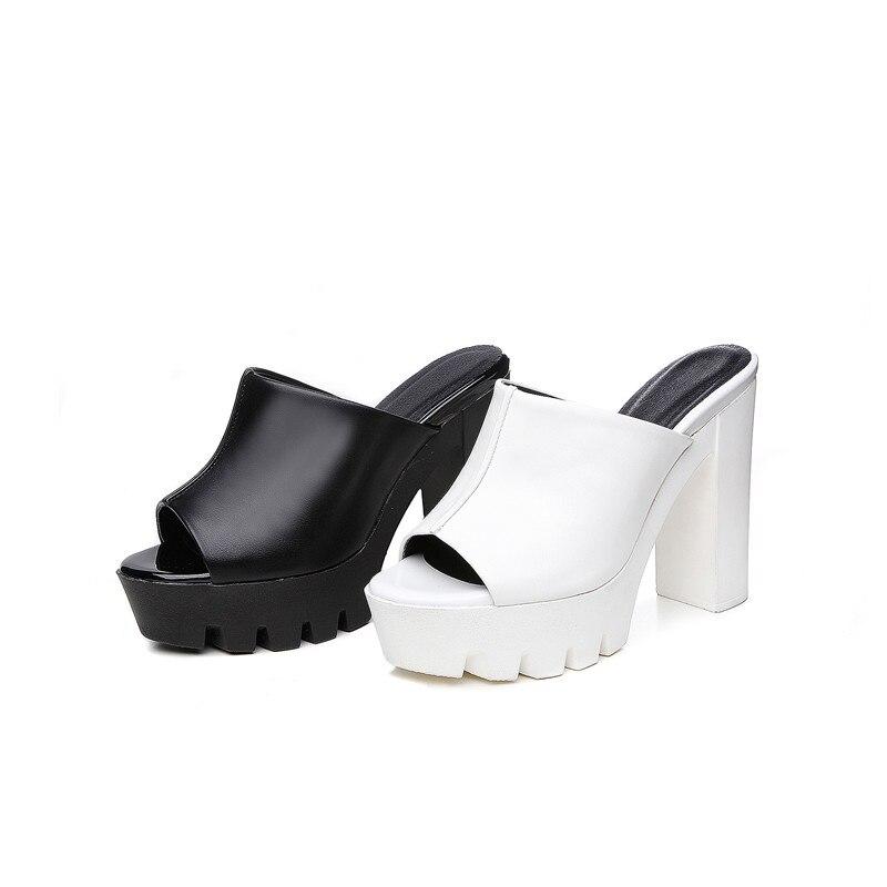 Bout Talons Femmes Ouvert Sandales Spuer Femme Pu En forme Fraîche Plate À Contracté Cuir D'été blanc Solide Chaussures Souple Morazora Noir B1PxTwqT
