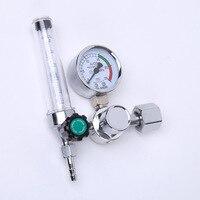 1ピースアルゴンco2ガス圧力流量計レギュレータ高品質金属mig mag溶接溶接ゲージ0-25 mpa