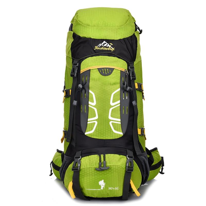 ФОТО 55L Backpack Men Women Professional Backpacks Bags High Quality Backpack Travel Bag Rucksack