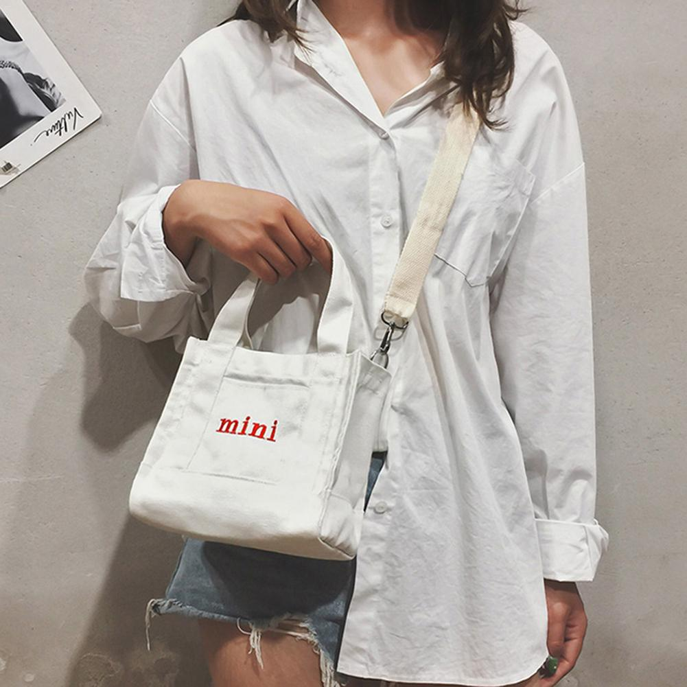 Korean Fashion Style Small Canvas Shoulder Bag Tot