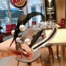 Korea Pearl Shining Bow Hairbands Hair Accessories Crystal Hair Bows Flower Crown Headbands For Women 4 korea pearl shining bow hairbands hair accessories crystal hair bows flower crown headbands for women 4