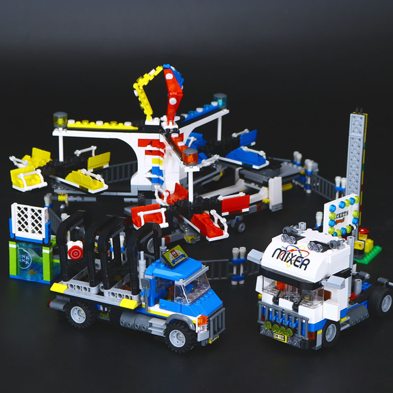 New Lepin 15014 Genuine Street Series The Amusement Park Giant Stride Carnival Set 10244 Building Blocks Bricks Educational Toy new lp2k series contactor lp2k06015 lp2k06015md lp2 k06015md 220v dc