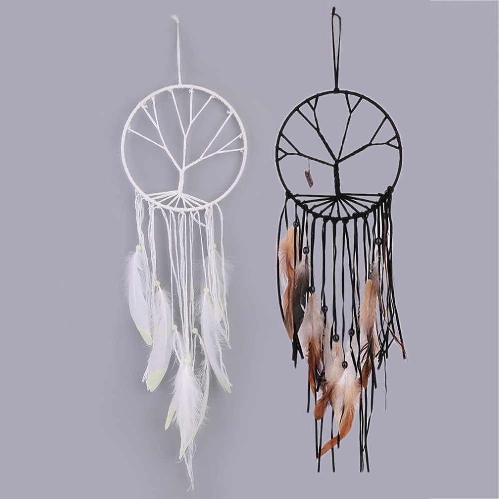 2 colors handmade tree of life dream catcher indoor home for Crystal home decorations