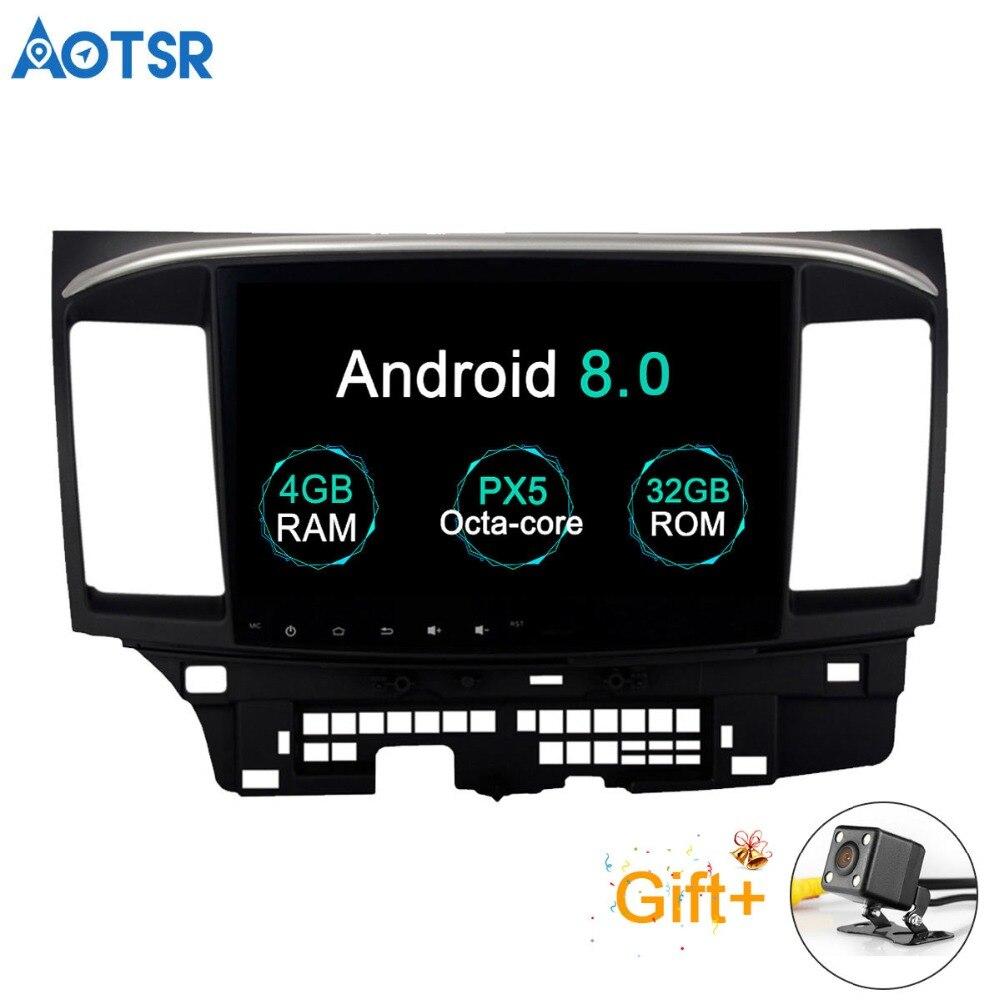 Aotsr Android 8.0 Voiture GPS Lecteur pour Mitsubishi Lancer avec 4g + 32g Octa Core Auto Stéréo Navi radio Multimédia 2 din bluetooth