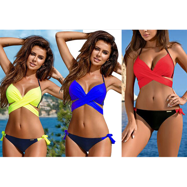 Bikini 2018 Women Swimwear Push Up Bikini Sets Micro Sexy Brazilian Bikinis Bottom Girls Beach
