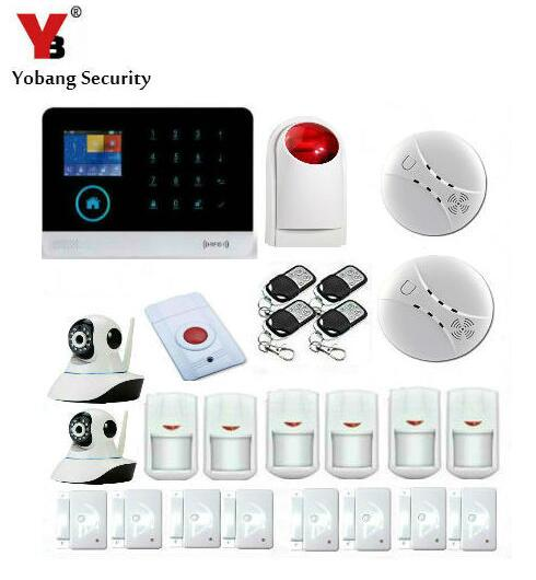 YoBang Security Wireless Home Seacurity Alarm System WIFI WCDMA/CDMA 3G GPRS Android IOS 433MHZ Smoke Sensor Video IP Camera