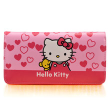 976f8c8bb3 Cute Cartoon HelloKitty Famous Brand Designer Purse Women Leather Wallets  For Girls Clutch Purse Lady Party