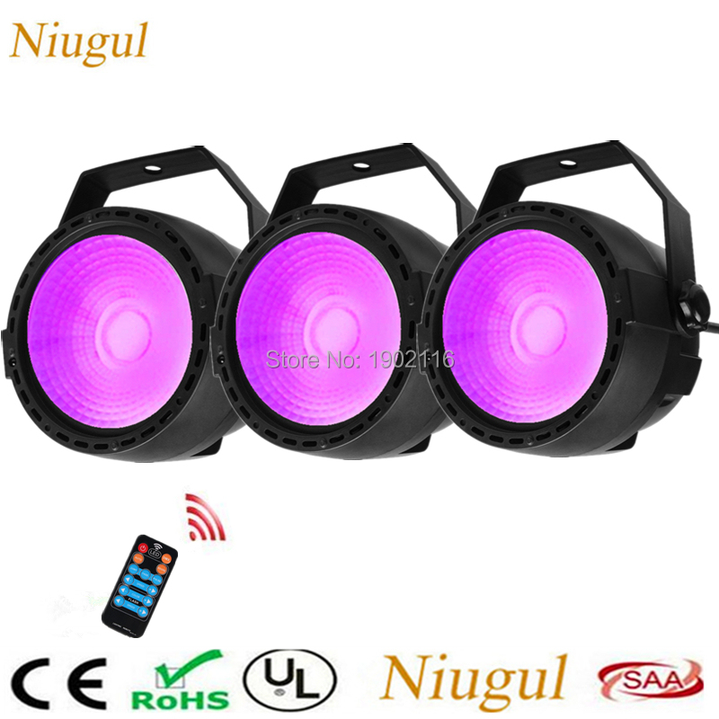 3pcs Wireless Control 30W RGB UV LED Par Light High Brightness COB Par Cans DMX 8