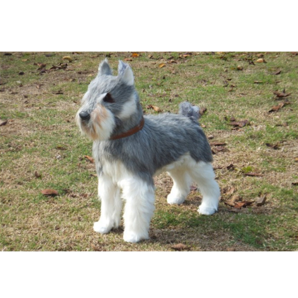 Fancytrader реалистичный серый Шнауцер плюшевые игрушки для детей имитация собаки животные куклы 40 см 16 дюймов детские подарки