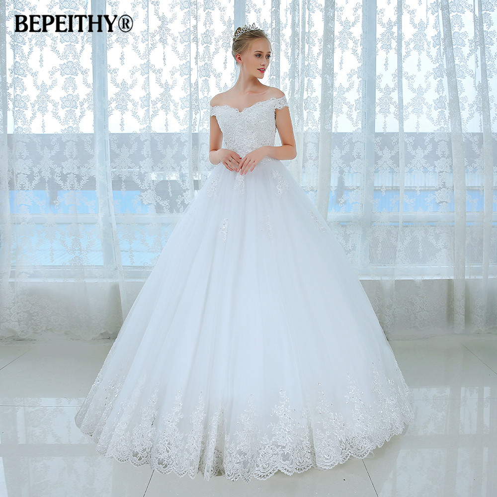 Newest Style Princess Lace Wedding Dresses Turkey Short Sleeve ...