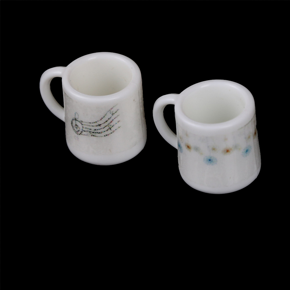 Wholesale 2pcs <font><b>1</b></font>:<font><b>12</b></font> Cups Mugs <font><b>Dolls</b></font> <font><b>House</b></font> Miniature <font><b>Accessories</b></font> image