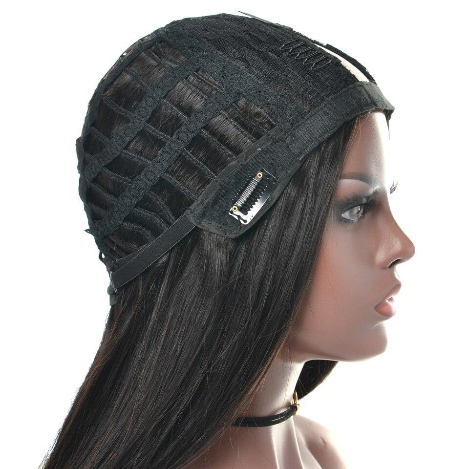 YVONNE Straight U Part Wig Human Hair Wigs 100% Brazilian Virgin Hair Wig Natural Color