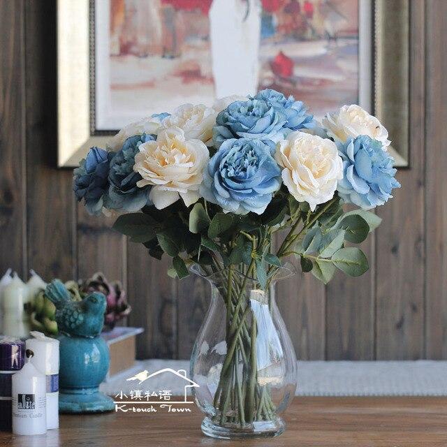 Aksesoris Rumah Ruang Tamu Meja Kopi Hiasan Bunga Mengatur Dekorasi Buatan Artificial Sutra