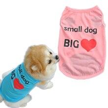 Xs-l chaleco perro impresa algodón Primavera Verano camisa del perro ropa  para mascotas Perros Gatos cachorro ropa para perros a. 6bd9432b9422a