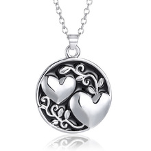 New Fashion Best Friend Sister Pendant Chain Necklace Silver Double Love Heart Sister Valentine's Day Gift Necklaces for Women