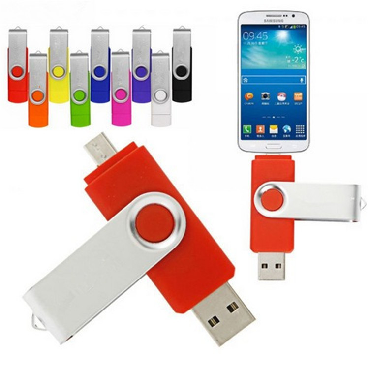 32GB Colorful Rotated OTG Smart Flash pen drive 32GB OTG memory stick micro usb flash driver for smart phone tablet
