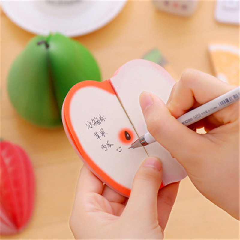 Cute Sticky Notes Creative DIY Fruit Vegetables Memo Pads Kawaii  Note Paper Stationery Office Papelaria Supplies