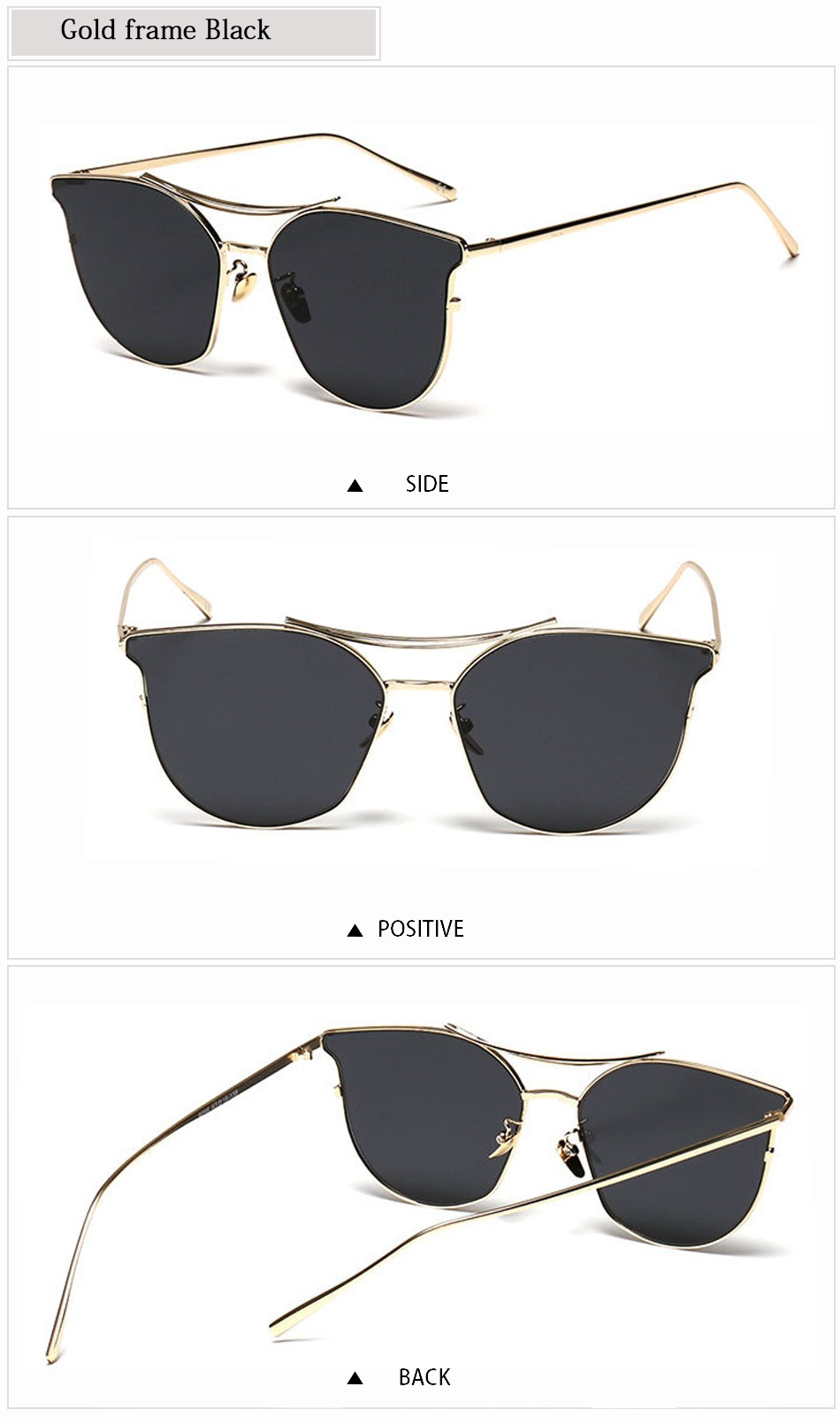 2af120967f FEIDU New Cat Eye Aviator Sunglasses Women Vintage Fashion Metal Frame  Mirror Sun Glasses Summer Style Ladies Sunglasses UV400