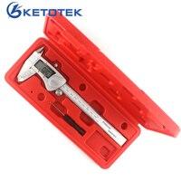 150mm 6inch Digital Vernier Caliper IP54 Waterproof Stainless Steel LCD Electronic Caliper Gauge M In Micrometer