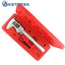 On sale 150mm 6inch Digital Vernier Caliper IP54 Waterproof Stainless Steel LCD Electronic Caliper Gauge m/in Micrometer Measuring Tool