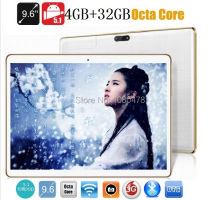 9.6 pulgadas tablet pc Octa core bluetooth wifi GPS 1280*800 5.0MP 4 GB 32 GB Android 5.1 3G Phablet 4G LTE MID DHL Libre gratis