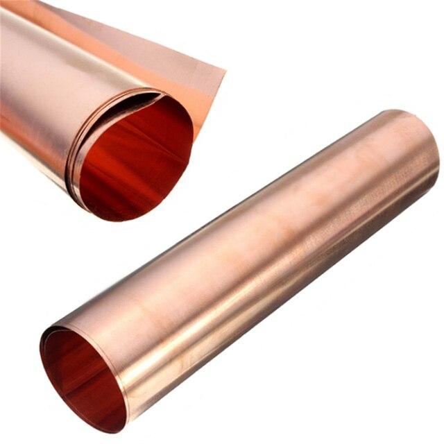 1Pc 99.9% ทองแดงบริสุทธิ์ทองแดงแผ่นโลหะบางฟอยล์ม้วน0.1มม.* 100มม.* 100มม.