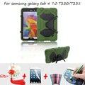 Броня Противоударный Чехол для Samsung galaxy Tab 4 7.0 Случае Дети Kickstand Силиконовый Чехол для Samsung Galaxy tab 4 7 ''sm-t230 t231