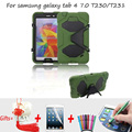 Armor Shockproof Cover for Samsung galaxy Tab 4 7.0 Case Kids Kickstand Silicone Case for Samsung Galaxy tab 4 7'' sm-t230 t231