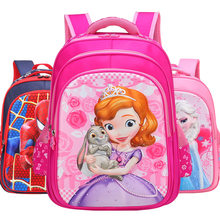 Boys school bags for girls Sofia Spiderman Superman Hello Kitty burden alleviation school backpack kids bags children backpack(China)