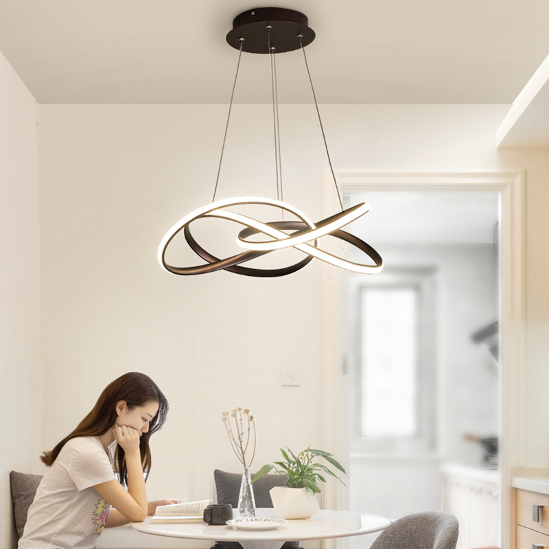 Ceiling Lights & Fans Led Restaurant Chandelier Simple Modern Atmosphere Living Room Bedroom Bar Table Lamp Creative Personality Strip Nordic Lamps