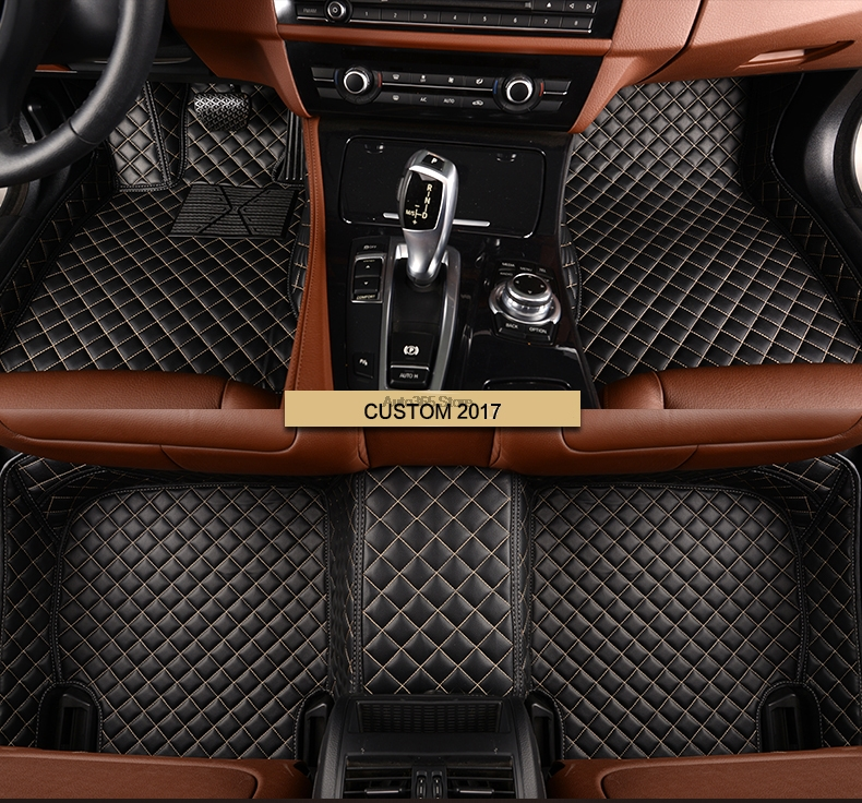 Car Decoration Custom Fit New For Ford S Max Fusion Mondeo Focus Edge Kuga Escape Foot Floor Mat Set 2013 - 2018