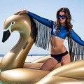 Large inflatable flamingos white swan Ms water inflatable mounts water floating row floating bed swim ring