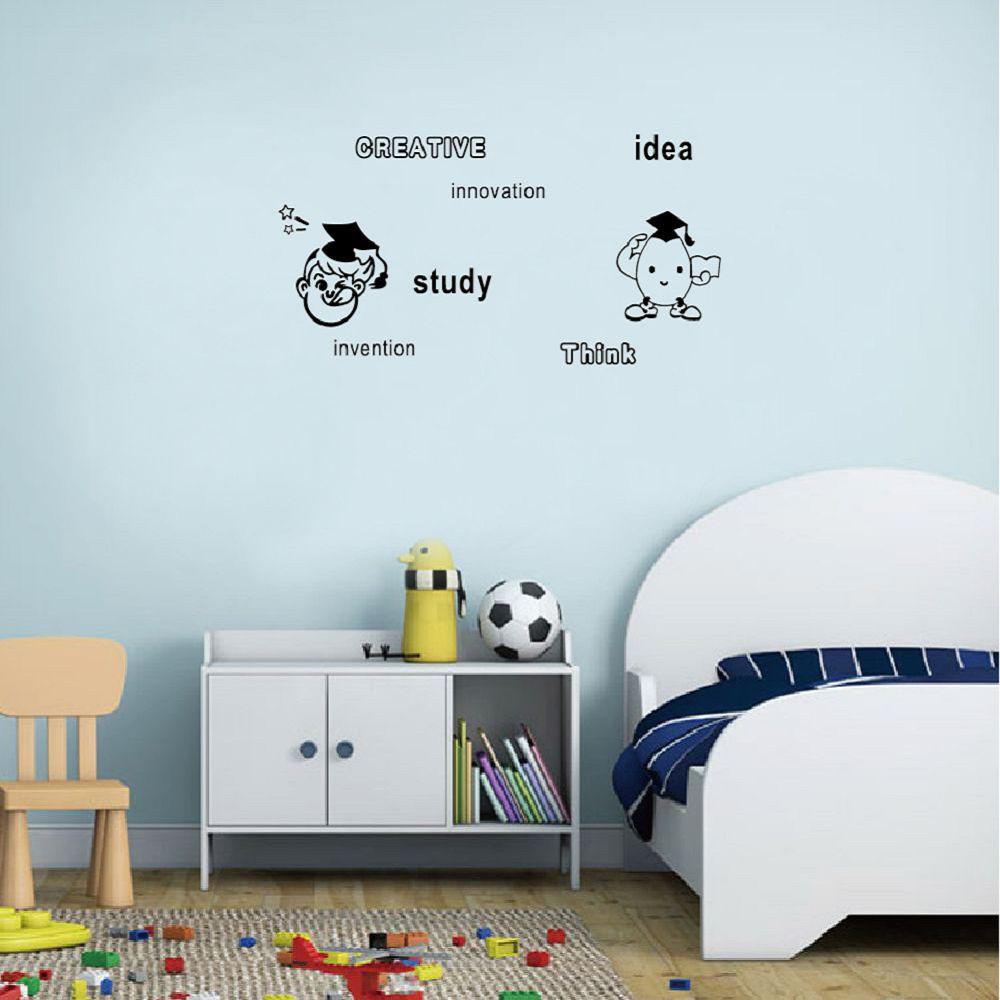 Малыш-6 милый мультфильм доктор изучение английского стены Стикеры для детской комнаты