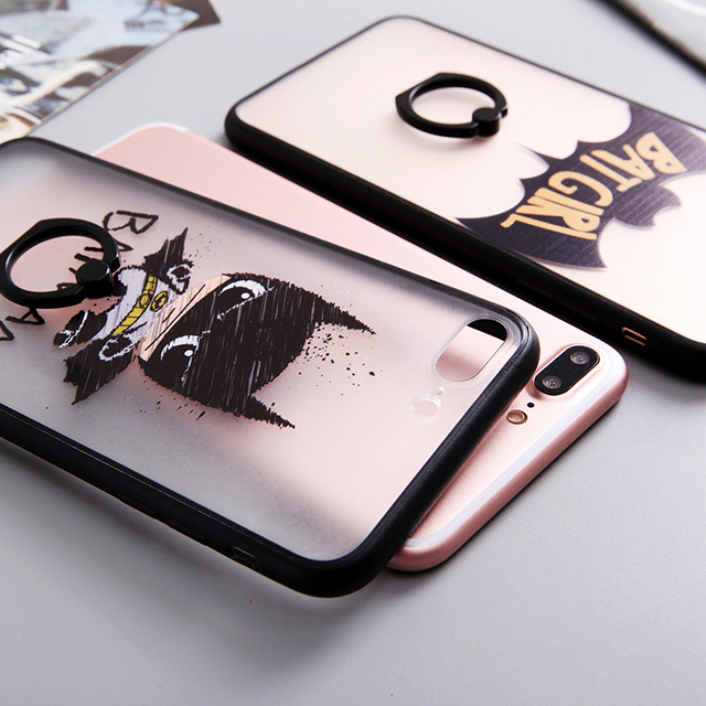 BatGirl and BatMan Case with Ring Holder for iPhone 6 & 7