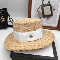 Net red same lafite small straw hat wet summer fresh sun hat M the sunscreen burrs female hat Sun Hats