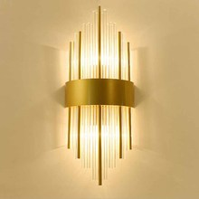 купить BOKT Crystal Wall Lamp LED Wall Light AC110V 220V Modern Wall Sconce Bedroom Corridor Living Room Lights For Home Lighting дешево