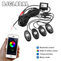 4PODS Bluetooth RGB Car Boat LED Rock Lights Atmosphere Lamp Kit with Timing Function / Music Mode For Android iOS Phone