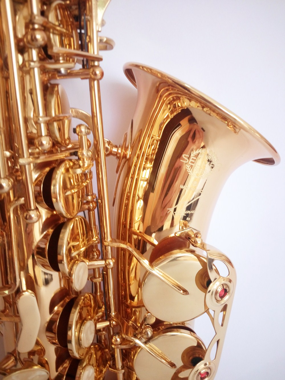 Sales Alto Sax France Selmer 54 Saxophone Eb playing music real photo shoot New Sax electrophoresis Golden Saxophone Promotions tenor saxophone free shipping selmer instrument saxophone wire drawing bronze copper 54 professional b mouthpiece sax saxophone