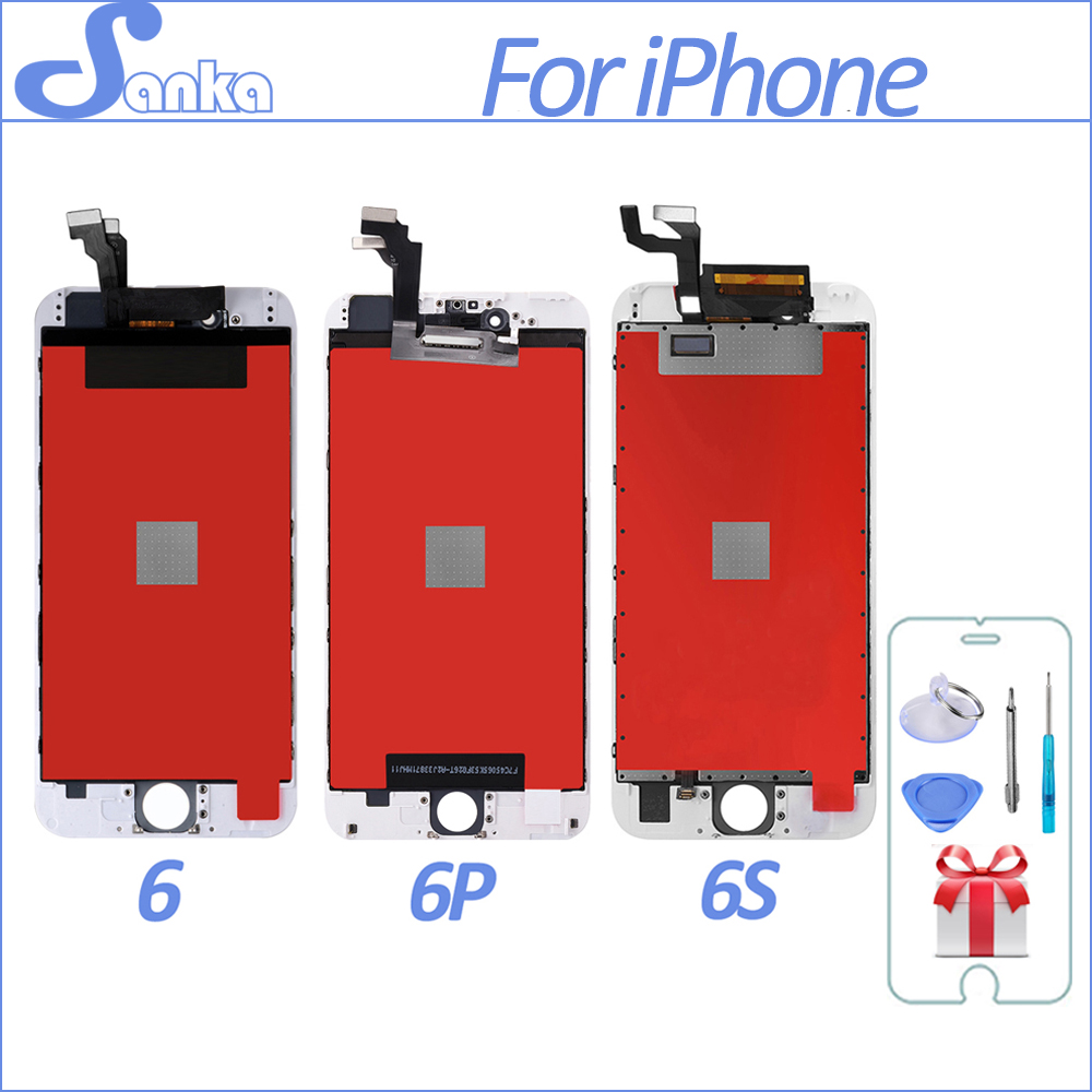 SANKA For Apple iPhone 6 6PLUS 6S LCD Display Touch ScreenDigitizer Assembly Replacement Ecran Pantalla LCD Mobile Phone PartsSANKA For Apple iPhone 6 6PLUS 6S LCD Display Touch ScreenDigitizer Assembly Replacement Ecran Pantalla LCD Mobile Phone Parts