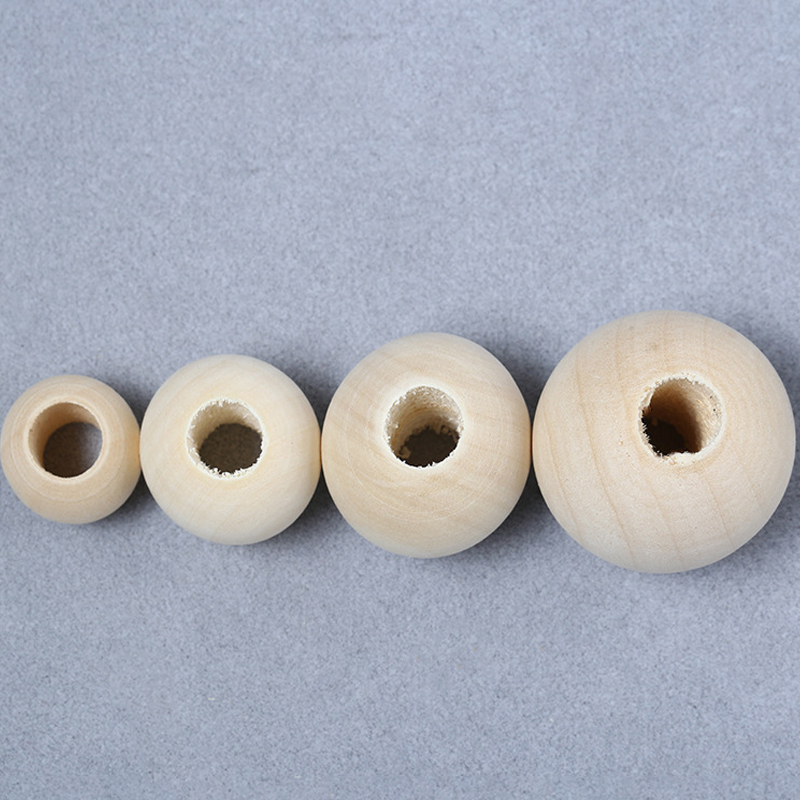 500pcs/lot 4/6/8/10/12/14/16/18/20mm Good Quality Natural Ball Wood Beads Round Spacer Wooden Beads For DIY Jewelry Making image