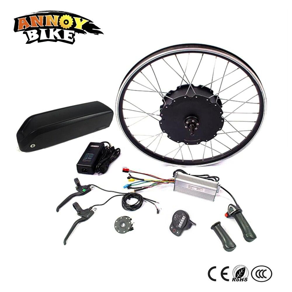 48 v 1500 w Moteur Ebike kit Vélo Électrique kit de Conversion pour 20 24 26 700C 28 29 Roue arrière électrique bicicleta avec batterie