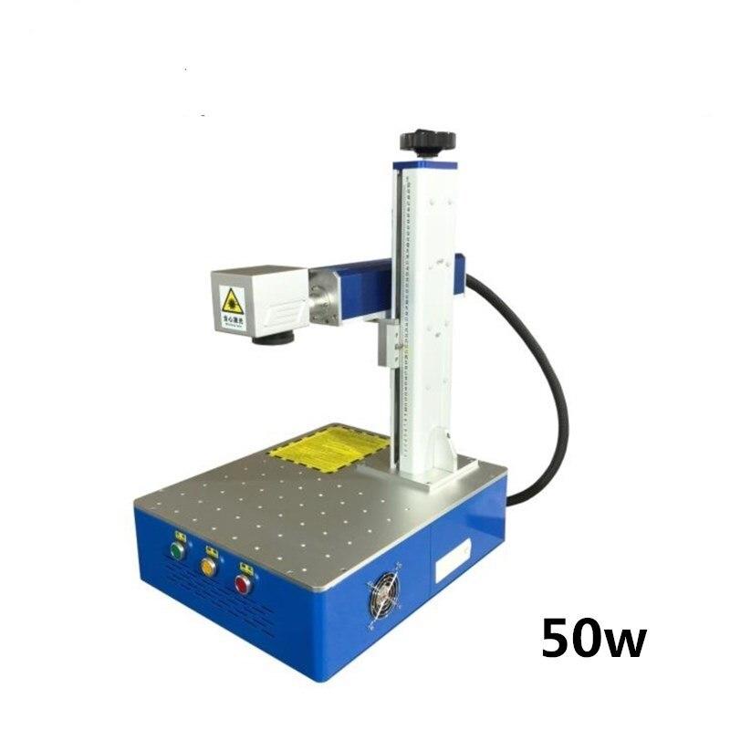 50W fiber laser marking machine metal marking machine laser engraving machine Nameplate laser marking mach stainless steel